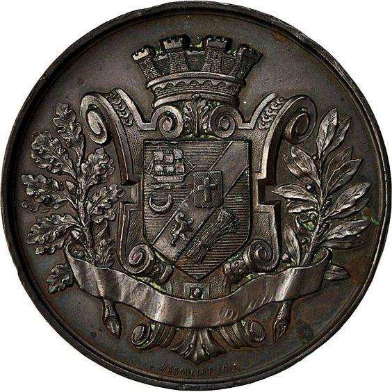 Algerien Medaille Industrieausstellung Akademischen Und