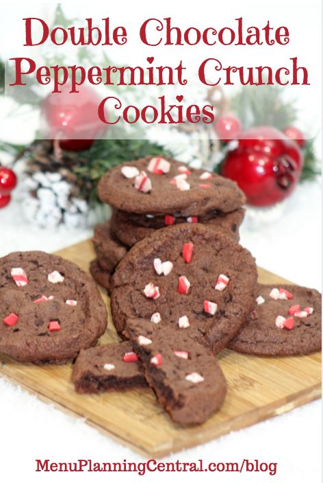 Double Chocolate Peppermint Crunch Cookies | Recipes for Baking ...