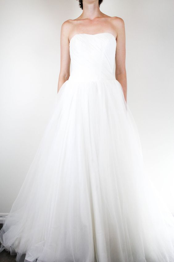 David's Bridal Tulle Wedding Gown