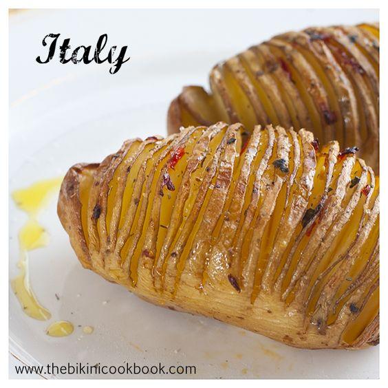 Fanned Baked Potato from the bikini cookbook ITALY
