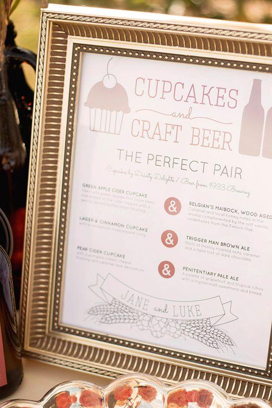 Craft Beer Styled Shoot featured on Wedding Chicks - custom design, wedding invitations, beer wedding, beer bottle labels, bottle caps, hops, envelope liner by Whimsy Design Studio