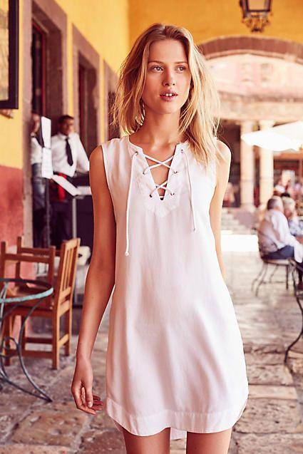 Cloth & Stone Navarre Lace-Up Dress