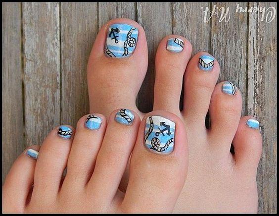 30 Toe Nail Designs Feet Nails Anchors And Beaches
