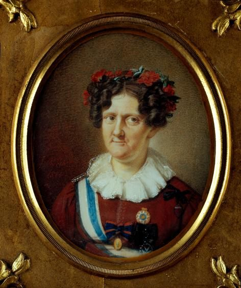Queen Carlota Joaquina (1775-1830), painted by João Baptista Ribeiro - Queluz National Palace