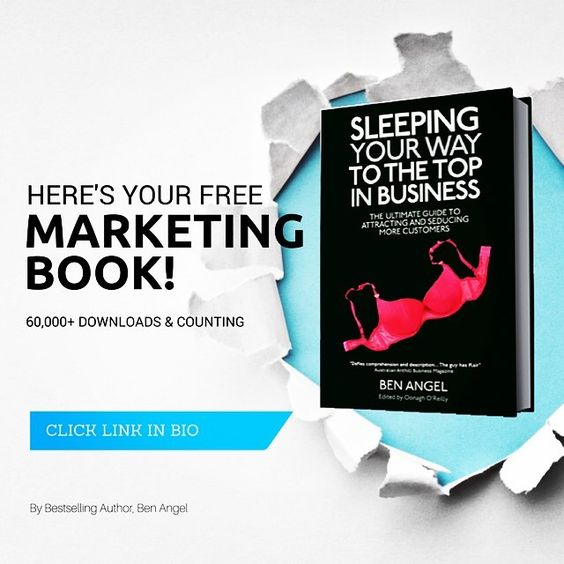 Need help with your business & personal branding?  Grab yourself a FREE copy of this cheeky bestselling marketing book downloaded by over 60,000 entrepreneurs worldwide.   Head to: www.benangel.co now to download your free 300 page marketing book.