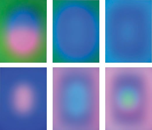 Images from James Turrell's 'Sustaining Light'.