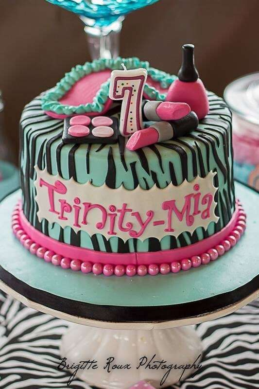 Torta Spa Party Mis Tortas Pinterest Spa Party Spa And - Spa birthday party cake