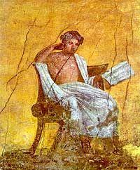 Haus des Menander. Wandmalerei, Pompeji
