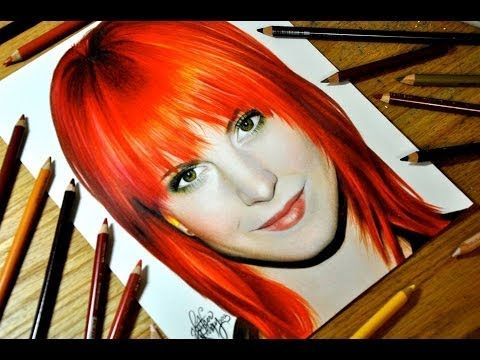 Drawing Hayley Williams - Colored Pencil Time-lapse Sketch by Heather Rooney on YouTube