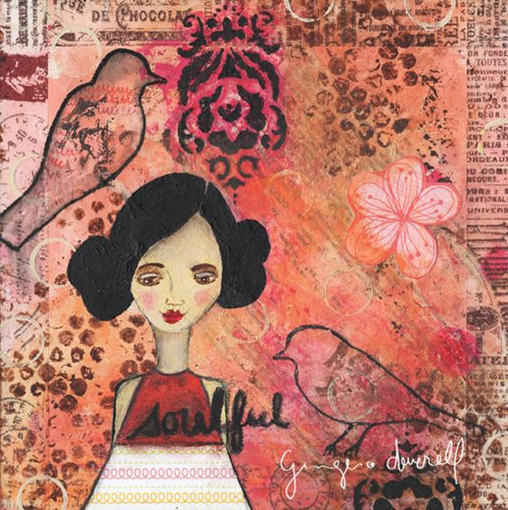 Soulful - Giclee Reproduction From Original Mixed, by Ginger Deverell, RedPearCreative, $23.18
