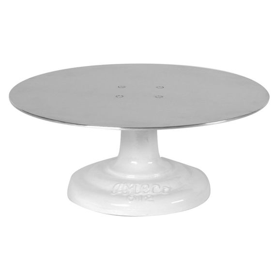 "Any kind of cake turntable, really, but this one sounds solid. The key to perfect icing jobs! | Ateco 612 12"" Revolving Metal Cake Stand (August Thomsen)"