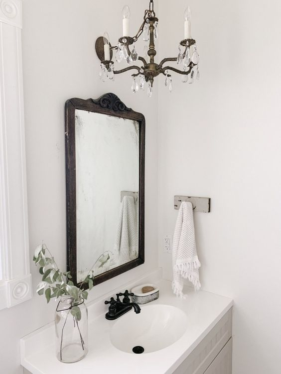 Antique Bathroom Chandelier