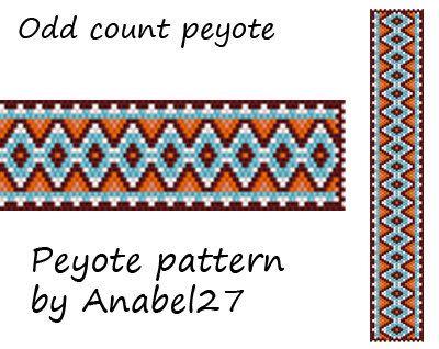 Peyote pattern  beadwork  peyote bracelet pattern  by Anabel27shop