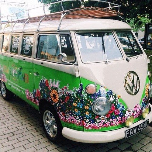 Flower power VW van | kombi