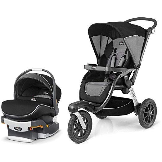 16++ Chicco jogging stroller and car seat info