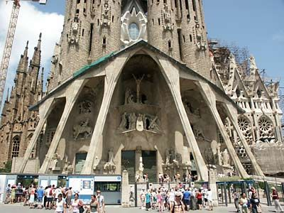 Check out the unfinished Sagrada towers in Barcelona, Spain
