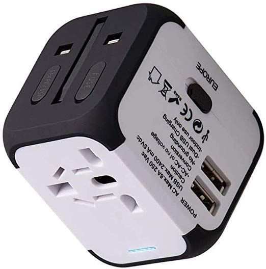 Travel Adapter Uppel Dual USB All-in-one Worldwide Travel Chargers Adapters for US EU UK AU About 152 Countries Universal Power Plug Adapter Charger with Dual USB and Safety Fuse (White): Electronics Best Camera for Travel.  【Note and Guaranteed】: This adapter does not convert the corresponding voltage voltage.