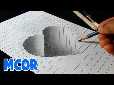 Como Dibujar Un Corazon En Hueco 3d Paso A Paso Youtube Como Dibujar En 3d Dibujos 3d A Lapiz Corazones Para Dibujar