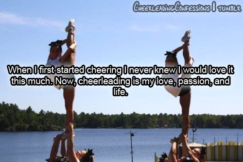 Cheerleading is my love, passion and life: