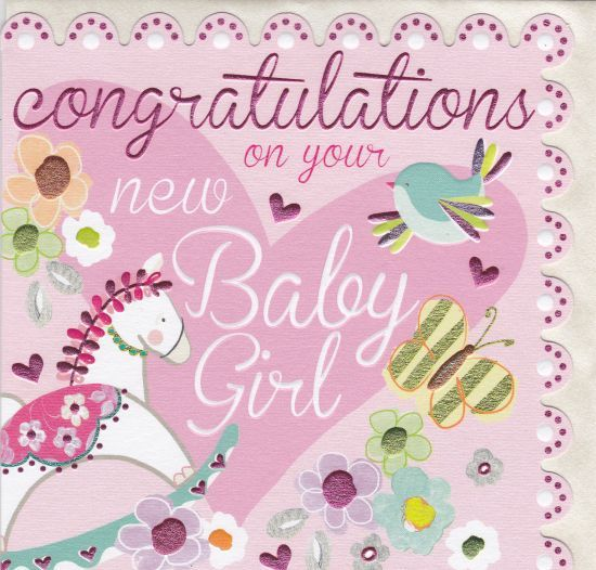 congratulation on a new baby girl
