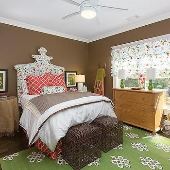 Brown and Green Bedroom