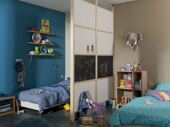 Deux enfants une chambre huit solutions pour partager l 39 espace merlin - Separation chambre enfant ...