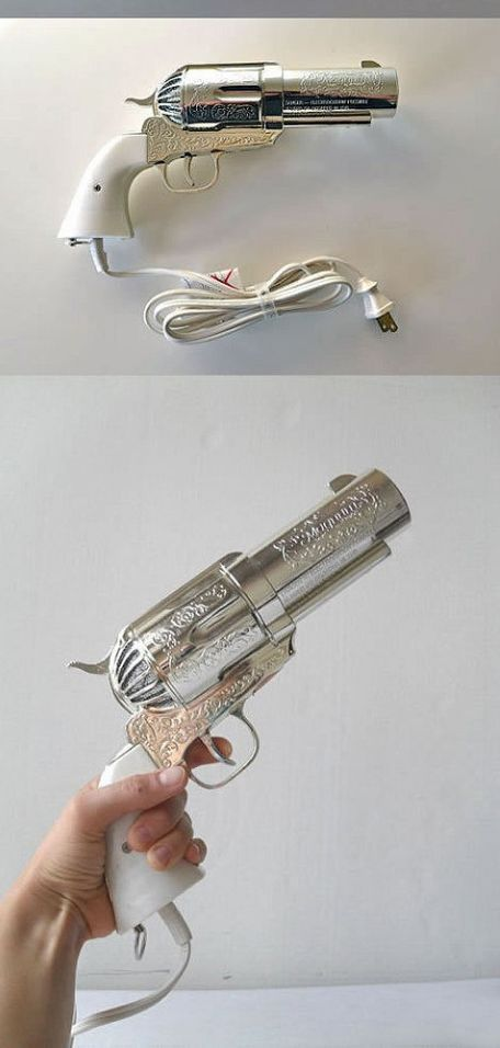 Morbid- Pistol Shaped Hair Dryer. How cool?!