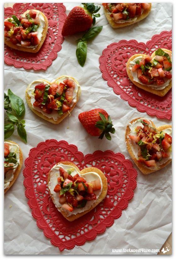 Sweetheart Strawberry Crostini