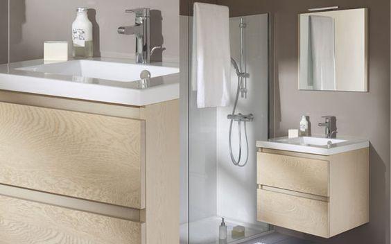 Wastafel meubel sanijura sobro maar dan andere kleur badkamer inspiratie pinterest - Kleur modern toilet ...