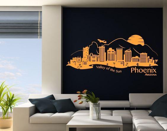 Wandtattoo Skyline Phoenix Arizona 001