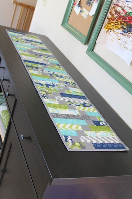 pretty colored table runner