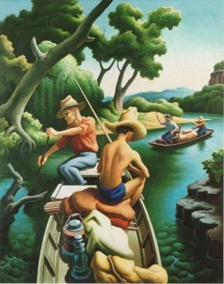 It's About Time: 1930s America's Great Depression - Thomas Hart Benton 1920s-1970s Regionalist Painter     I love his colors and all the fluid lines