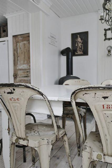 Swedish & Tolix chairs=<3