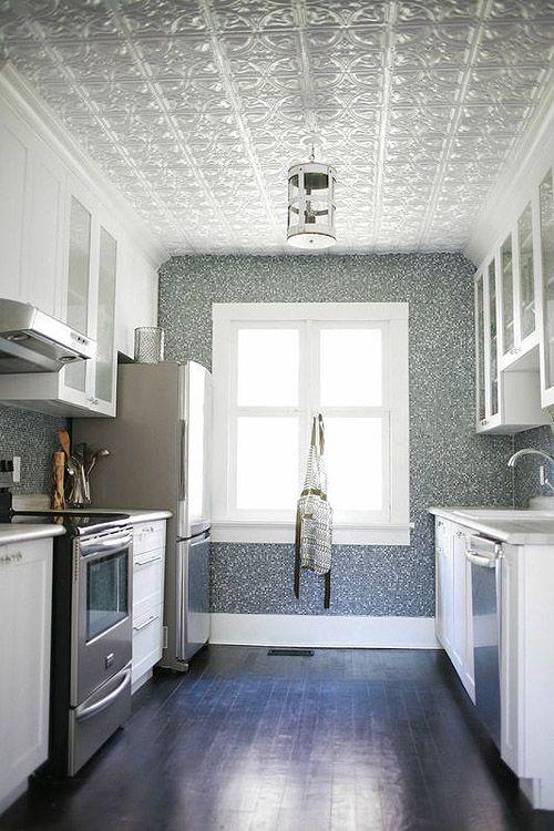 Kitchen Ceiling Design Above Island. Pressed Tin Tiles In Kitchen. Tin  Ceilingu2026 | For The Home | Pinterest