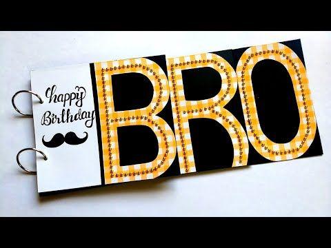 Beautiful Handmade Birthday Card Idea Birthday Card For Brother Tutorial Youtube Beautiful Birthday Cards Handmade Birthday Cards Diy Father S Day Cards