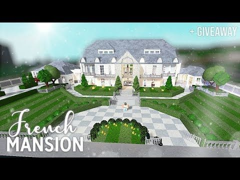 Roblox Bloxburg French Mansion Giveaway Youtube French Mansion Mansions House Plans With Pictures