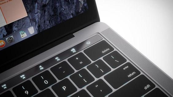 Touch-Fläche statt Tasten: Macbook Pro mit OLED-Display kommt bald