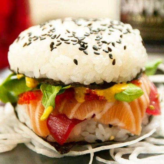 Für die Pattys braucht ihr (für ca. 6 Portionen, das sind ca. 3 Burger):  250 g Sushi-Reis 3 EL Reis-Essig 1 EL Mirin (süßer japanischer Reiswein) 2 TL Zucker 1 TL Salz
