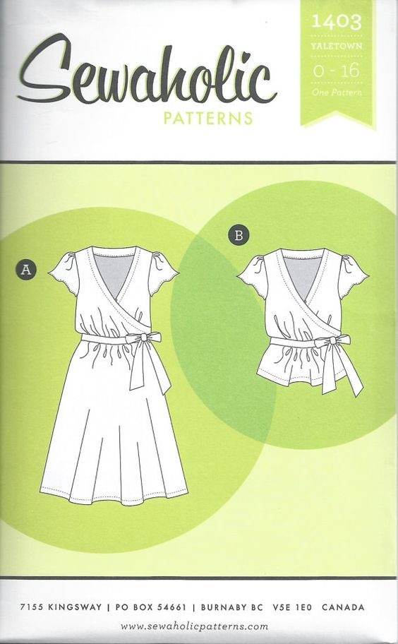 Sewaholic Yaletown Dress & Blouse Pattern by TheHangarStudio