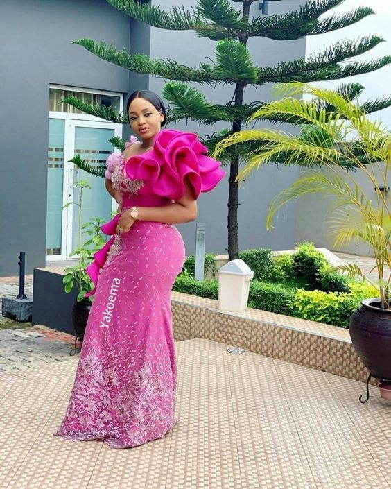 Latest Ankara Aso Ebi Styles 2019 Check Out 100 Classy And Stylish Aso Ebi Ankara Styles For Wedding Cute Lace Dresses Lace Gown Styles African Wear Dresses