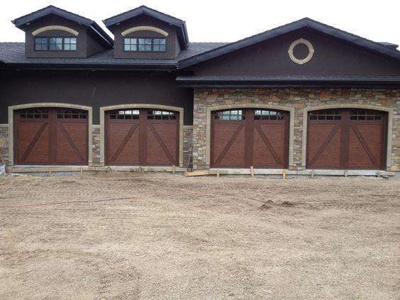 These are clopay canyon ridge ultra grain series steel and for Energy efficient garage doors