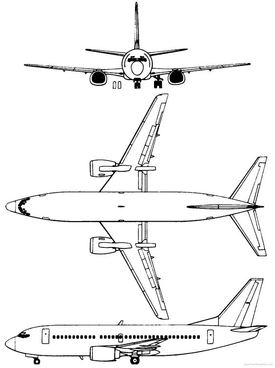 Boeing 737-300 templates views