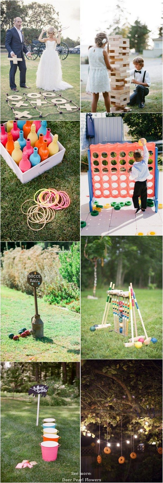 simple outdoor wedding ideas for summer%0A    Fun Outdoor Wedding Reception Lawn Game Ideas