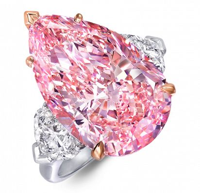 Graff Pear Shape Pink Diamond Ring