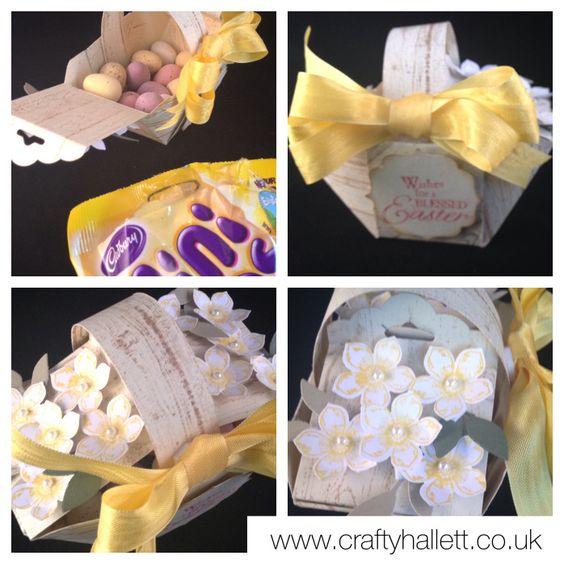 Petite Petals Easter Baskat - uses the Envelope Punch Board.  Video tutorial in post