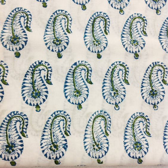 Indian Cotton Fabric Block Printed Cotton Fabric by DesiFabrics