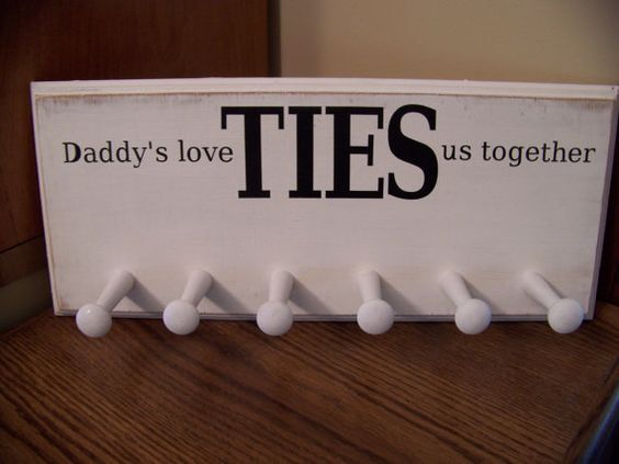Etsy listing at http://www.etsy.com/listing/106362410/daddys-love-ties-us-together-tie-rack