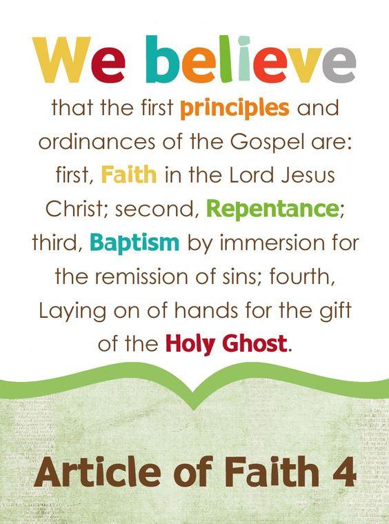 first article of faith mormon