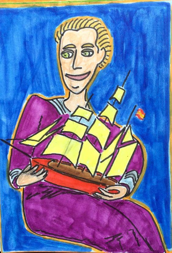 Joven con velero