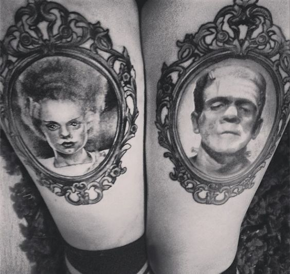 Frankensteins Monster and Bride, by Krzysztof Domanowski at Plus Forty Eight. We Belong Dead!  http://dollbon3s.tumblr.com/